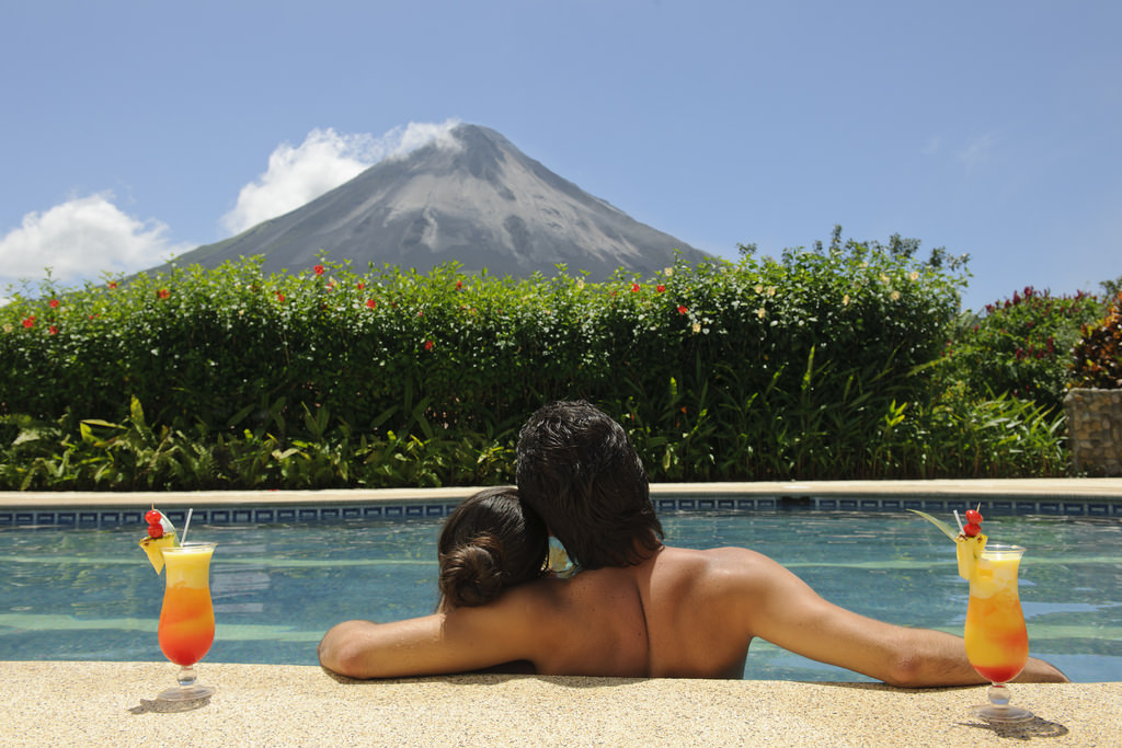 Arenal Kioro Pool with Volcano View