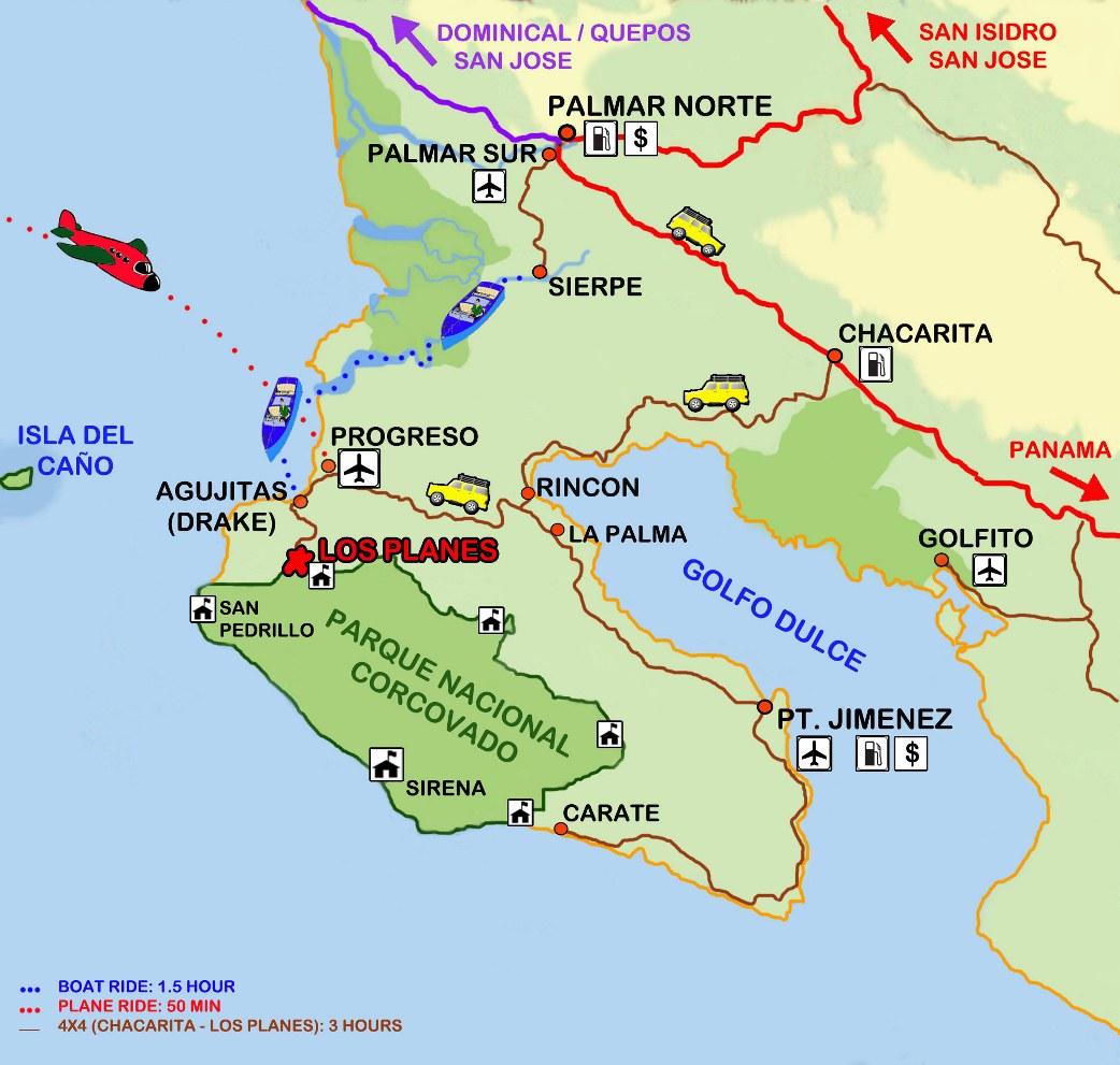 osa peninsula costa rica map Costa Rica Osa Peninsula Map Package Costa Rica osa peninsula costa rica map