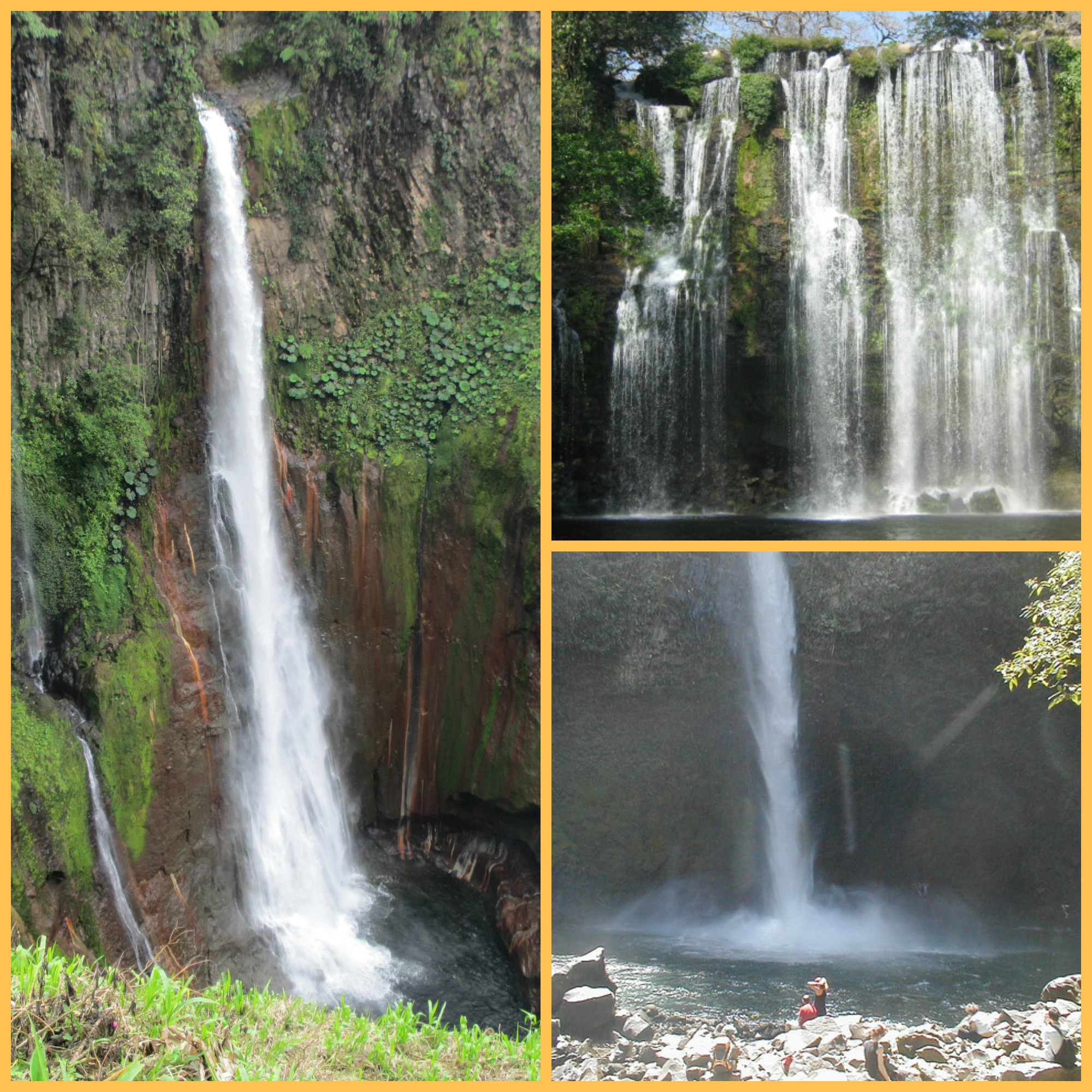 Costa Rica Waterfalls Collage